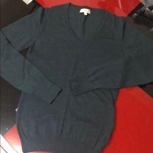 Dark green 100% merino wool sweater, size M